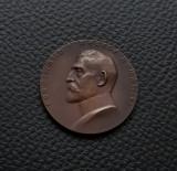 Medalie 1921 regele Ferdinand / Expozitia si targul de mostre Bucuresti