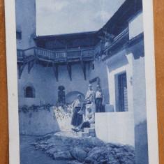 Carte postala circulata , 1924 ; Regina Maria si Printesele la Castelul Bran