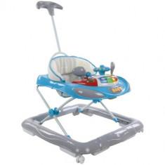 Premergator cu Control Parental Super Car Albastru cu Gri, Sun Baby