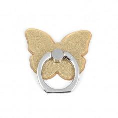 Suport Universal Tip Inel Iring Butterfly Pentru Telefon Gold