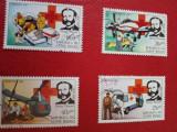 GUINEA BISSAU, RED CROSS - SERIE COMPLETĂ ȘTAMPILATĂ
