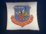 Efecte militare - Emblemă textilă - Escadrila 931 Av.V.B. - Bz.93 Aer. - Aviatie