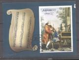 Ajman 1969 Paintings Mozart Music imperf.sheet Mi.B113 used defect M.222, Stampilat