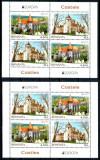 Romania 2017, LP 2142 e, EUROPA Castele, blocuri de 4, MNH! LP 97,50 lei, Organizatii internationale, Nestampilat