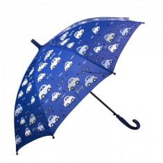 Umbrela pentru fete, automata Beep Car 80 cm Bleumarin