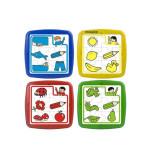 Set de 4 puzzle educative, 6 piese, MINILAND