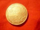 Moneda 25 000 lei 1946 Mihai I argint , cal. FB-NC