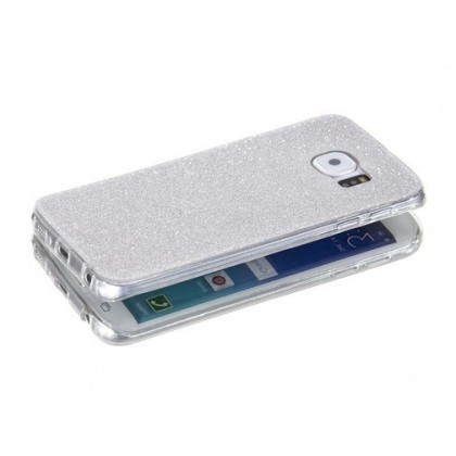 Husa Ultra Slim GLITTER Samsung G928 Galaxy S6 Edge Plus Silver