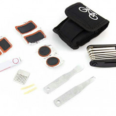 Kit reparatie pentru biciclete, cu chei, imbus si petice, 20 piese