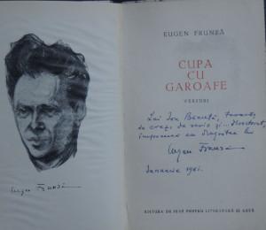 Cupa cu garoafe Eugen Frunza  cu autograf