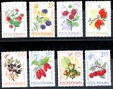 1964 LP598 serie Fructe de padure MNH, Flora, Nestampilat
