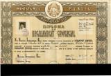 Diploma de Bacalaureat Comercial RPR 1948 Emisa 1956 Liceul Comercial de fete 3