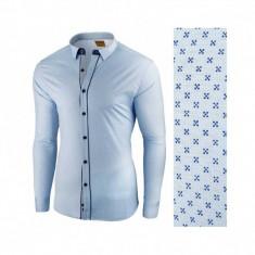 Camasa pentru barbati, albastru deschis, flex fit - Lumieres du Soir