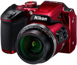 Aparat Foto Digital NIKON COOLPIX B500, Filmare Full HD, 16 MP, Zoom Optic 40x, 3inch LCD (Rosu)