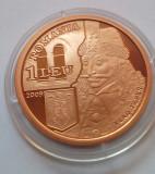 Cumpara ieftin Romania, 1 leu 2009, tombac, Vlad Tepes,  550 ani atestare Bucuresti