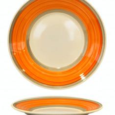 Farfurie ceramica, 19cm, cu dunga orange, Keramik, 0121122,
