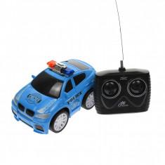 Masina de politie de jucarie, cu radiocomanda, 1:20, albastra - HSY66435A