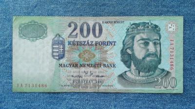 200 Forint 2001 Ungaria foto