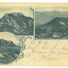 2504 - BRAN, RASNOV, FELDIOARA, Litho, Romania - old postcard - used - 1899