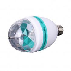 Bec Proiector Rotativ Multicolor Cu LED