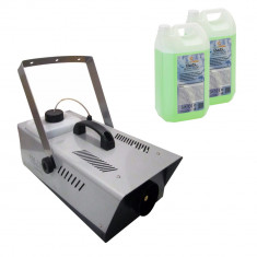 Masina de fum pentru petreceri telecomanda pedala inclusa 1500 KV lichid 4 L cadou