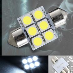 Led bec C5W FESTOON SOFIT 6 SMD 5050 31 mm de culoare alb, Universal