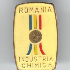 Insigna 1970 Industria CHIMICA - Romania