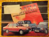 Dacia, brosura Instructiuni