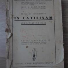 IN CATILINAM. ORATIO PRIMA. EDITIE DE ILIE I. ALMAJEANU (COPERTI SI ULTIMA PAGIN