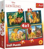 Puzzle clasic copii - Regele Leu si prietenii 4 in 1