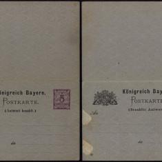 Germany Bavaria - Postal History Rare Old Postcard + Reply UNUSED DB.225