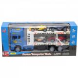 Camion cu 4 masinute Unika Toy, Albastru