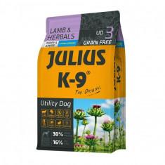 Julius K9 Puppy & Junior - Miel & Ierburi - 10kg - Hrana completa...