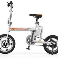 Bicicleta electrica pliabila Airwheel R5, Viteza maxima 20km/h, Autonomia maxima 30-40km, asistata 80-100km, Roti 16inch, Baterie Panasonic (Alb)