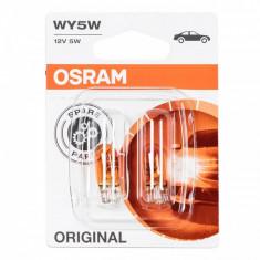 Set becuri auto Osram, 5 W, soclu WY5W, 2 bucati