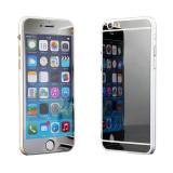 Cumpara ieftin Folie Sticla iPhone 6 Plus iPhone 6s Plus Tuning SILVER Oglinda Fata+Spate Tempered Glass Ecran Display LCD