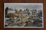 Bucuresti Piata Bratianu animata / tramvaie - stampila CENZURAT IASI, Circulata, Fotografie