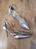 LICHIDARE STOC! Superbi pantofi eleganti dama noi piele naturala lila sidefat 37