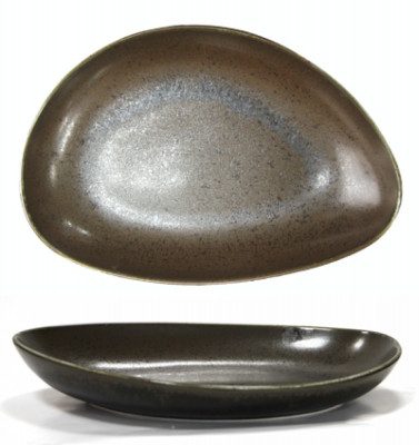 Platou portelan oval adanc BLACK, Antique, 30 cm, 0156120 foto