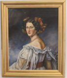 Pictura ulei pe panza, CONTESA, copie dupa Karl STILER, Portrete, Realism