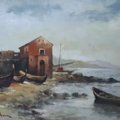 Tablou pictura - peisaj, Peisaje, Ulei, Miniatural