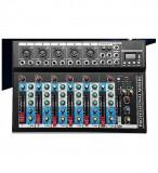 Cumpara ieftin MIXER AUDIO PROFESIONAL CU 7 CANALE AUDIO,USB STICK,EFECTE VOCE,AFISAJ LCD.NOU., Oem