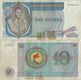 1975 ( 30 VI ) , 10 zaïres ( P-23a.3 ) - Zair