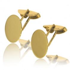 Butoni din Aur galben 14 kt personalizabili