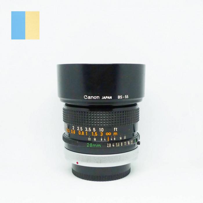 Obiectiv Canon 28mm f/2.8 S.C. montura Canon FD