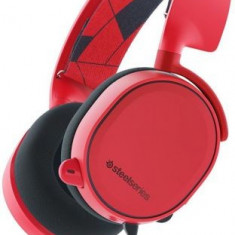 Casti Stereo Gaming SteelSeries Arctis 3, PC, PlayStation 4, Xbox One, Nintendo Switch, VR, Android si iOS, Microfon (Rosu)