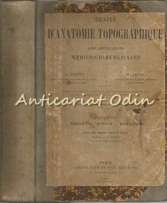 Traite D'Anatomie Topographique II - L. Testut, O. Jacob - Abdomen, Bassin