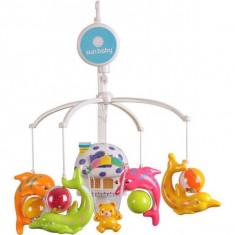 Carusel muzical Sun Baby 010 cu lampa, sunete si jucarii