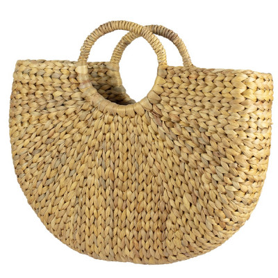 Handmade Natural Water hyacinth Handbag foto