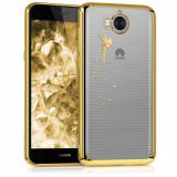 Husa pentru Huawei Y6 (2017), Silicon, Gold, 42686.01